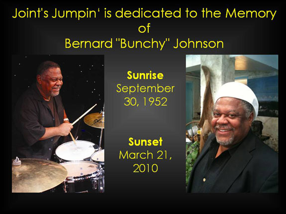 "Dedicated to the memory of Bernard ""Bunchy"" Joh"